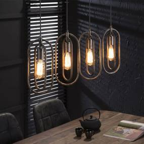 Ovale hanglamp 4L