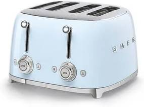 Smeg 50's style broodrooster 4 sleuven staal pastelblauw