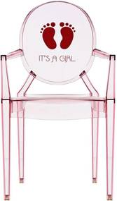 Kartell Lou Lou Ghost Special Edition kinderstoel roze it's a girl