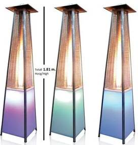 Justfire gas piramide heater (wit led 1.9m 11kw