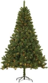 Kerstboom Canmore LED (h155 x ø91 cm) (Groen, PVC, Canmore (h155x91cm), Canmore