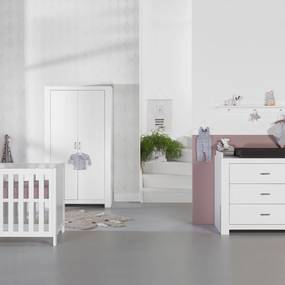 Babykamer Monza Wit - Babybed - Commode