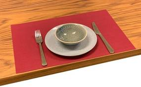 Placemat Weave Red 140cm