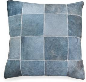Pillow Patchwork leather 45x45 cm - grey