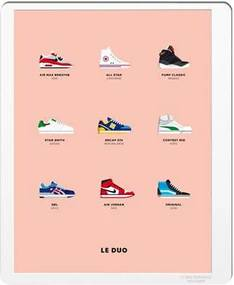Le Duo Sneakers Poster 40 x 50 cm