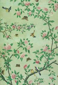 Panel of Chinese painted wallpaper