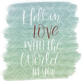 i fell in love with the world in you
