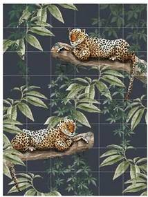 Chilling In The Jungle & Into The Wild Wandsysteem 160 x 120 cm